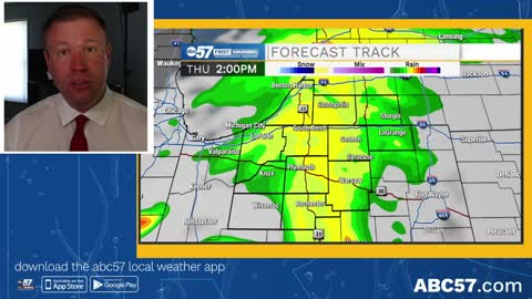 Scattered showers Thursday